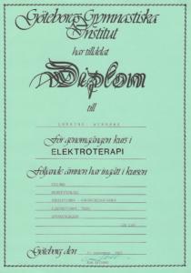 Diplom Elekroterapi