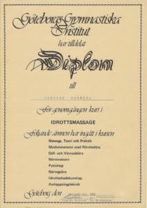 Diplom Idrottsmassage