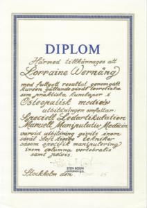 Diplom Sten Bohlin